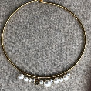 Michael Kors modern pearl collar necklace
